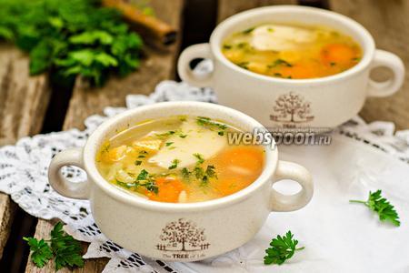 Овощной суп с пастой орзо