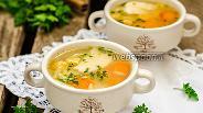 Фото рецепта Овощной суп с пастой орзо