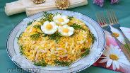 Фото рецепта Салат с курицей и корейской морковью