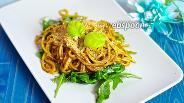 Фото рецепта Спагетти с помидорами черри и кедровыми орешками
