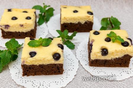 Шоколадный пирог с творожным муссом