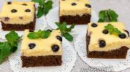 Фото рецепта Шоколадный пирог с творожным муссом