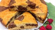 Фото рецепта Пятнистый кокосовый пирог