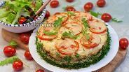 Фото рецепта Пирог с куриным филе, кабачками и творогом