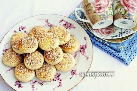 Печенье с обжаренным кунжутом