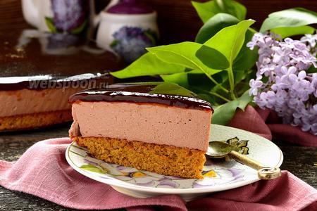 Шоколадный сырник с кофейным желе