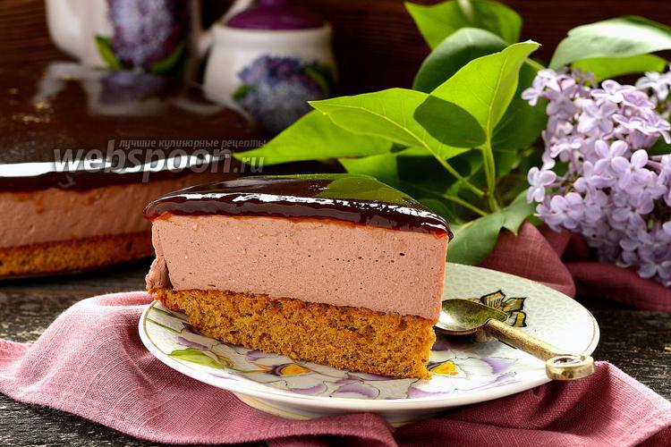 Фото Шоколадный сырник с кофейным желе