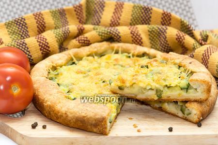 Пирог с цуккини и сыром