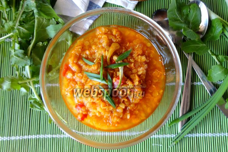 Фото Густой чечевичный суп