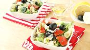 Фото рецепта Греческий салат с макаронами