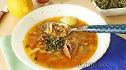 Фото рецепта Суп с лапшой и чечевицей