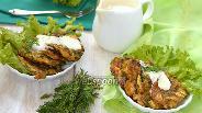Фото рецепта Оладьи из варёных яиц, зелёного лука и укропа
