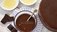 Фото рецепта Зеркальная шоколадная глазурь от Пьера Эрме