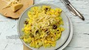 Фото рецепта Фарфалле с кольраби и сыром