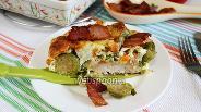 Фото рецепта Свиные отбивные с овощами и сыром в духовке