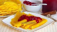 Фото рецепта Сладкие блинчики с корицей и куркумой
