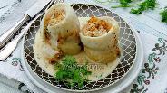 Фото рецепта Рыбные рулеты с ревенем и сливочным сыром