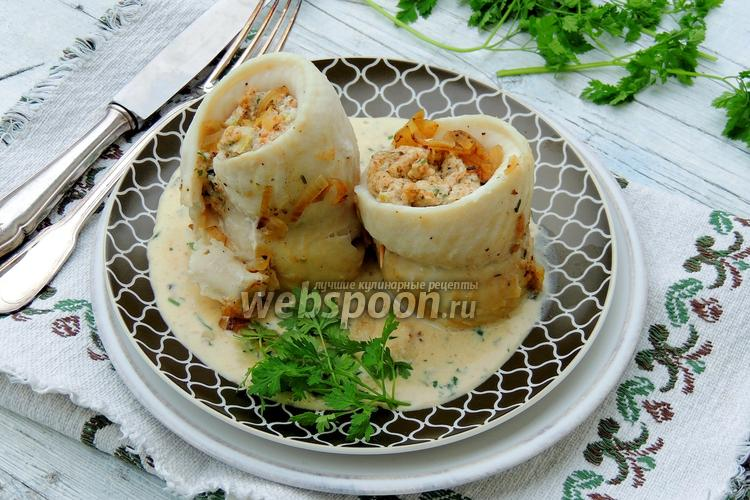 Фото Рыбные рулеты с ревенем и сливочным сыром