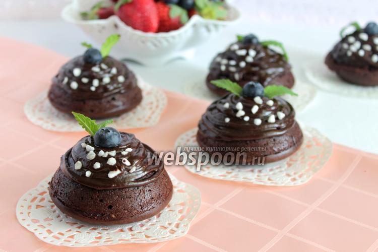 Фото Шоколадные капкейки «Брауни»