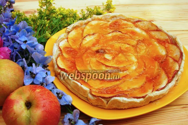 Фото Быстрый яблочный тарт
