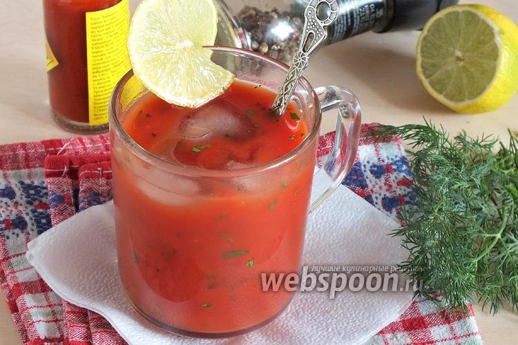 Фото Освежающий томатный коктейль с петрушкой