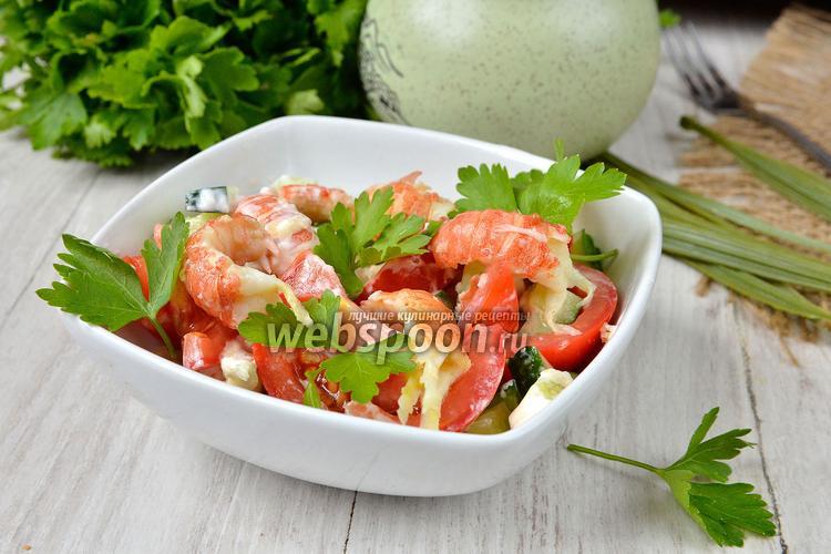 Фото Салат с раковыми шейками и овощами