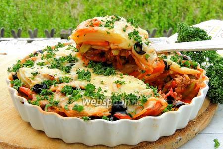 Фото рецепта Мясной пай со спаржей