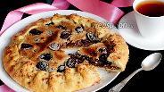 Фото рецепта Хрустящая сливовая галета с орехами