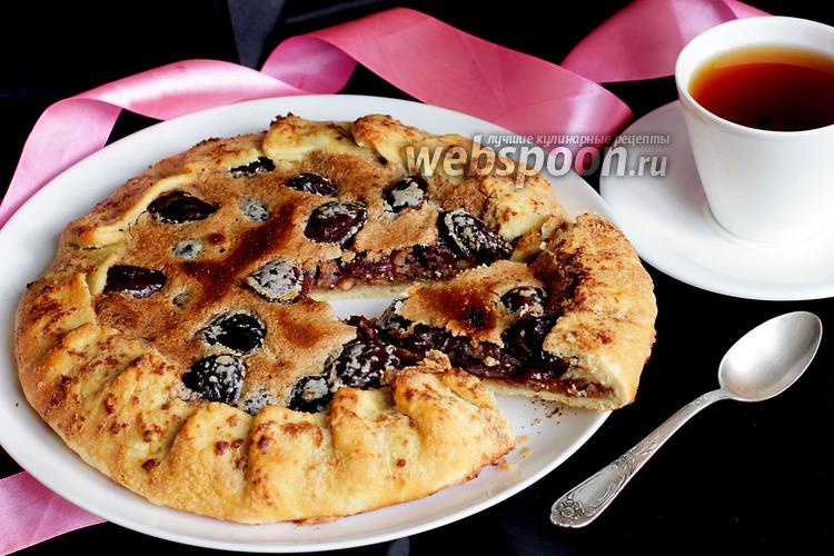 Фото Хрустящая сливовая галета с орехами