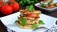 Фото рецепта Оладьи из кабачков со сметанным соусом