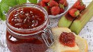 Фото рецепта Варенье из ревеня и клубники