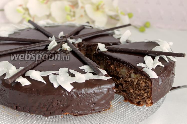 Фото Шоколадно-кокосовый торт
