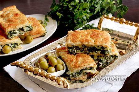 Спанокопита — греческий пирог со шпинатом