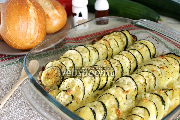 Фото Кабачки запечёные с картошкой