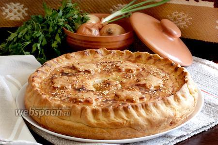 Домашний пирог со свининой и картофелем