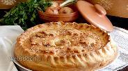 Фото рецепта Домашний пирог со свининой и картофелем