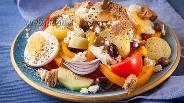 Фото рецепта Греческий салат по-критски