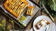 Фото рецепта Пирог с ревенем и яблоками