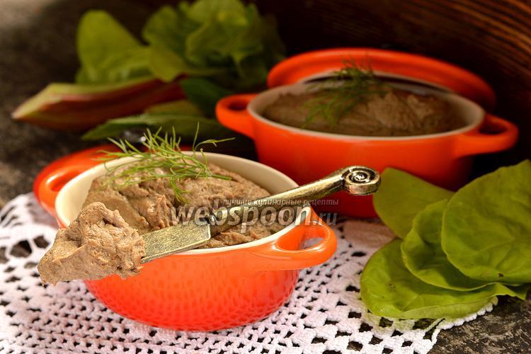 Фото Печёночный паштет с ревенем
