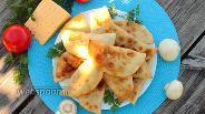 Фото рецепта Чебуреки с грибами и сыром