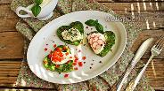 Фото рецепта «Зелёный» омлет с творожным кремом