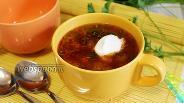 Фото рецепта Борщ с фрикадельками и кольраби