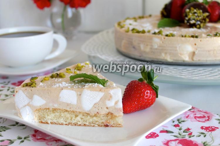 Фото Клубнично-шифоновый торт