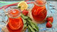 Фото рецепта Домашний клубничный лимонад с мятой