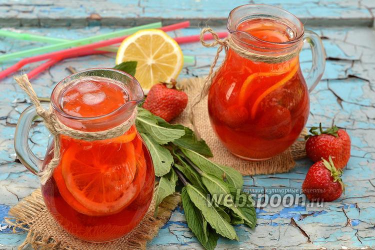 Фото Домашний клубничный лимонад с мятой