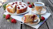 Фото рецепта Пирог с клубникой в мультиварке