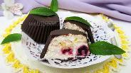 Фото рецепта Творожный десерт с ягодами ежевики