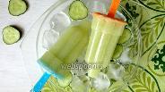 Фото рецепта Огуречное мороженое с мятным сиропом