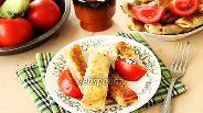 Фото рецепта Блинчики из лаваша с начинкой из сыра и зелени