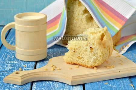 Фото рецепта Французский хлеб с кедровыми орешками в хлебопечке